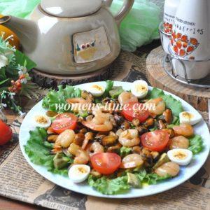 Салат с креветками простой и вкусный рецепт