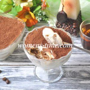 Классический рецепт тирамису с маскарпоне и сливками