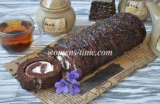 Шоколадный рулет — рецепт с пошаговыми фото