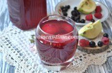 Компот из яблок и груш (смородины)- 2 рецепта