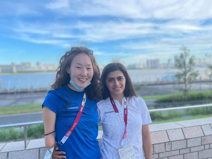 Анастасия Диодорова с коллегой