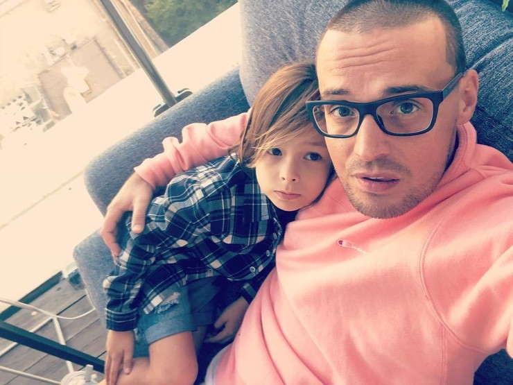 Рэпер Гуф с сыном Сэмом