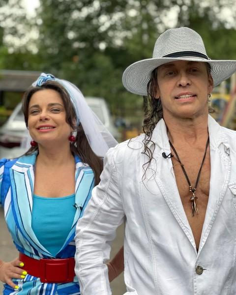 Недавно танцор и певица отметили бирюзовую свадьбу — 18 лет супружеской жизни