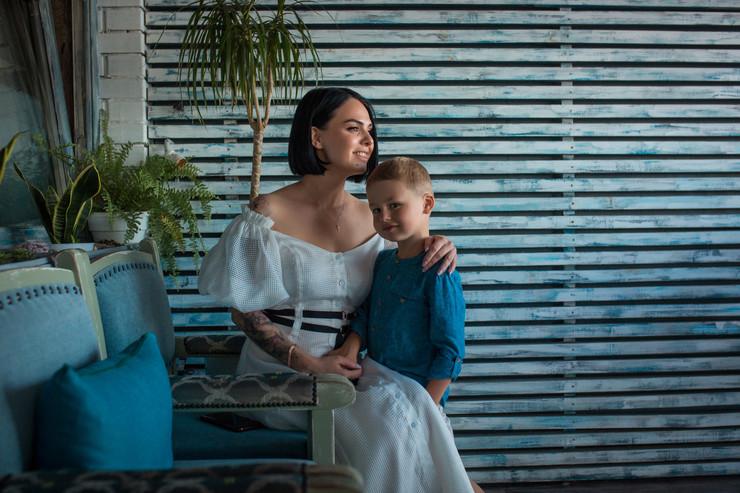 Евгения одна воспитывает пятилетнего сына Марка