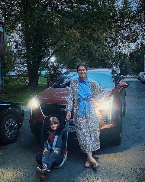 Варвара Шмыкова с сыном