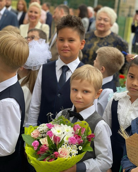 Сын Муцениеце и Прилучного стал учеником второго класса