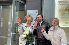 Лариса Копенкина подает заявление в загс – видео