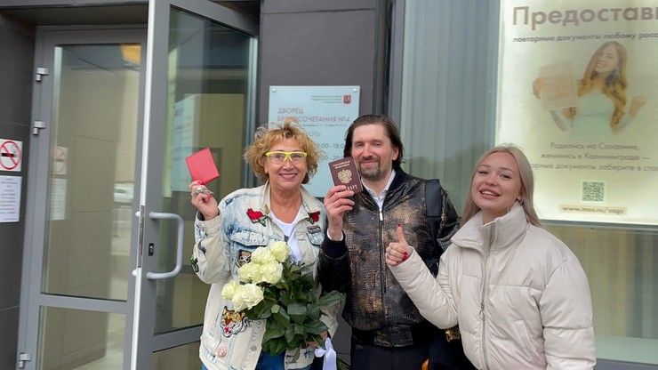 Лариса Копенкина с Василием Райским и его дочерью