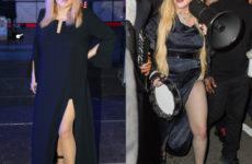 Располневшая Мадонна против Аллы Пугачевой – на ком платье с секси разрезом сидит лучше